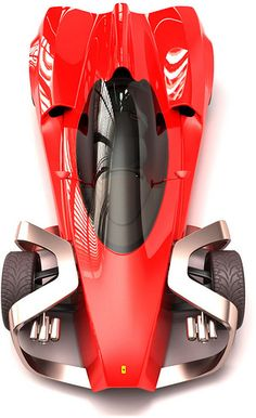 Ferrari Zobin Concept Car looks like a paper-rocket...