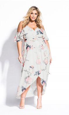 Shop Women s Plus Size Pink Lily Maxi Dress - ivory - Dresses  d6a3492ff