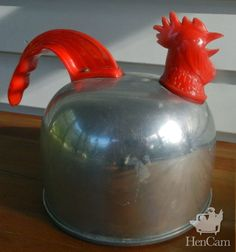 Rooster tea kettle. Might be more humorous than beautiful, but hey, it's a rooster tea kettle!