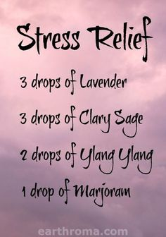 Essential Oil Stress Relief diffuser blend. 3 drops of Lavender essential oil…                                                                                                                                                                                 More