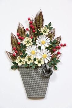 paper quilling - flower basket http://blog.naver.com/101kaikei/220390430293