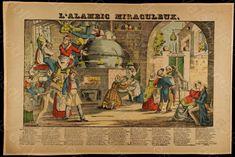 "Bibliothèque de Valenciennes, ""L'alambic miraculeux"", estampe, 1839"