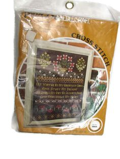 Cross Stitch Kit Paragon Needlecraft 0864 Virtue Sampler Sealed Package #ParagonNeedlecraft #Sampler