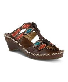 Look what I found on #zulily! Brown Sorriso Leather Sandal #zulilyfinds