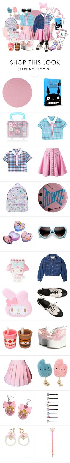 """""""[🎞📽🎬]"""" by mrselfdestruct ❤ liked on Polyvore featuring Colonial Mills, Ghibli, Disney, Olympia Le-Tan, Jeremy Scott, ASOS, WALL and Cara"""