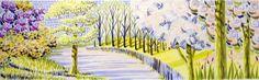 Prints and drawings by Brighton artist Peta Taylor. Riverside Park, Peta, Brighton, Manhattan, Giclee Print, Drawings, Artist, Prints, Artists