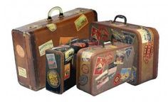 adesivos retrô p/ malas de viagem - kit com 03 cartelas