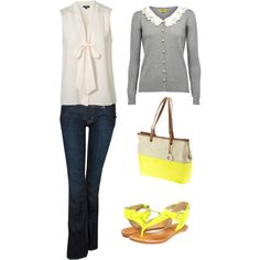 Yellow and gray outfit!