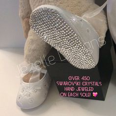 A personal favorite from my Etsy shop https://www.etsy.com/listing/247892370/swarovski-crystal-christening-shoes-set