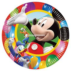 Mickey Mouse Plates - 23cm Paper Party Plates 2.20 8pk