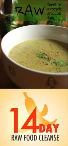 Raw Zucchini Avocado Broccoli Soup
