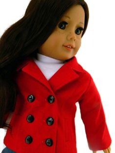 American Girl Doll Clothes  Red Cotton Piccadilly by 18Boutique, $42.00