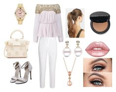 """""""Go Tell it on the Mountain (LND Fanfic Church outfit Ana)"""" by the-crazy-world-of-cj ❤ liked on Polyvore featuring Marchesa, Michael Kors, Rolex, France Luxe, Lime Crime, Bobbi Brown Cosmetics, ZAC Zac Posen and LE VIAN"""