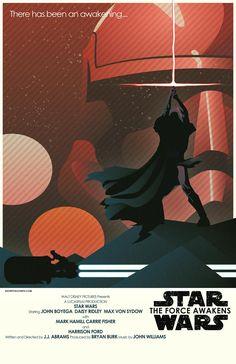 Star Wars The Force Awakens fan poster artwork John Boyega Daisy Ridley, Bryan Burk, Anniversaire Star Wars, Star Wars Vii, Fanart, Fan Poster, Episode Vii, Star Wars Poster, Star Wars Collection