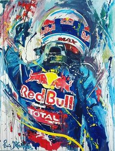 An an artistic rendition of The Flying Dutchman! Red Bull F1, Red Bull Racing, Racing Team, Stock Car, Helmet Paint, Speed Art, Grand Prix, Motosport, Ayrton Senna