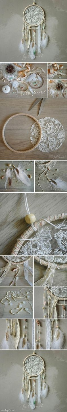 diy dream catcher, so going to make some and give them out!