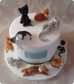 Tortas pasteles forma de gato7