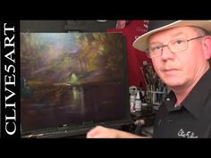 Fire In The Woods ; Acrylic painting, Lesson, for beginners, #clive5art - YouTube