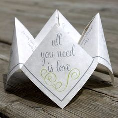 Darling Girl Paper makes the cutest wedding printables, like this cootie catcher! @Etsy Wedding Team photo on Instagram - Instagrille @DarlingGirlPaper
