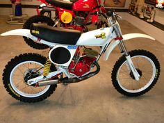 1976- Mugen ME125: An extremely potent Honda CR125M Package Racer built by Mugen, the son of Soichiro Honda.  Mugen urged his father to produce the Elsinore series of two stroke dirt bikes against his father's will.  Soichiro hated two stroke motors.