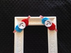 SALE Dr. Seuss Inspired Thing 1 and Thing 2 Baby by TwoLilPumpkins, $9.99