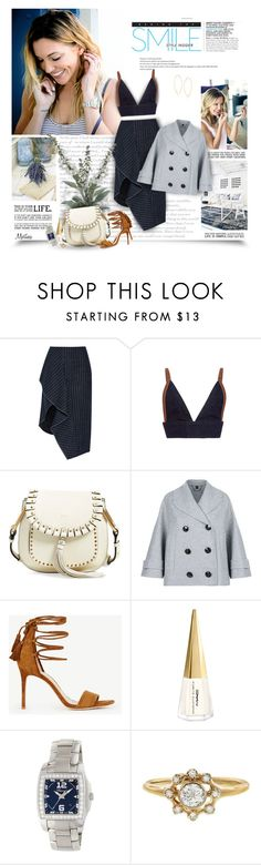 """The Smile"" by thewondersoffashion ❤ liked on Polyvore featuring 3.1 Phillip Lim, Marni, Chloé, Burberry, Ann Taylor, MAC Cosmetics, Chopard and Lana"