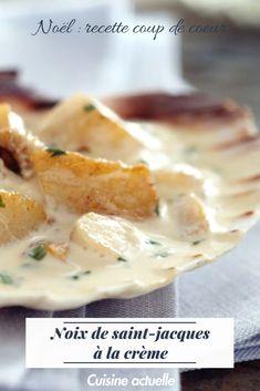 Ne ratez plus vos Noix de Saint Jacques grâce à notre recette vidéo ! Pour vos menus de noël ou autre menu de fête #cuisineactuelle #noixdesaintjacques #saintjacques #menunoel #repasnoel #fruitsdemer #bienmanger #recettefacile #recettevideo #repasnoel #noel #noel2018 #christmas My Recipes, Healthy Recipes, Fine Dining, Cheeseburger Chowder, Camembert Cheese, Mashed Potatoes, Seafood, Soup, St Jacques