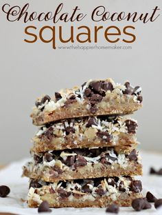 Chocolate Coconut Sq