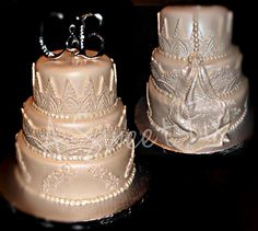 Lace Wedding Cake by A Sweet Fix