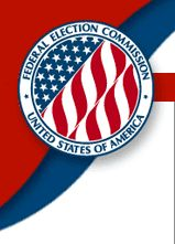 Federal Election Commission, United States of America (logo). Link to FEC Home Page