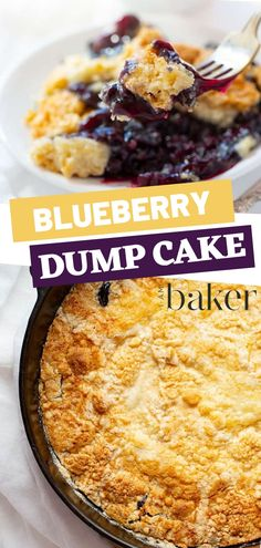 Dump Cake is one of the easy dessert recipes with few ingredients. This easy dessert recipes to impress has very simple steps. This dump cake with pie filling and cake mix is perfect;y served with cold butter or ice cream! Enjoy this delectable recipe! Dump Cake Recipes, Best Dessert Recipes, Gourmet Recipes, Baking Recipes, Blueberry Desserts, Köstliche Desserts, Blueberry Cake, Blueberry Recipes Easy, Blackberry Dump Cakes