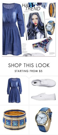 """""""Hair Trend"""" by mycherryblossom ❤ liked on Polyvore featuring Vans"""