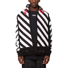 Diagonals scarf from the S/S2017 Off-White c/o Virgil Abloh collection in black