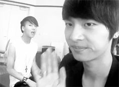 "Lol, Leader N and Ravi :D I love VIXX's ""camera tricks"" xD #vixx #ravi #n #hakyeon"