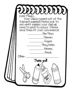 EDITABLE School Supply Letter for Parents (FREEBIE