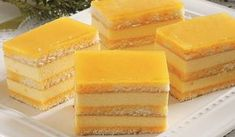 Zmiznú rýchlosťou blesku: Svieže sunquickové rezy | DobreJedlo.sk Czech Recipes, Cake Bars, Hungarian Recipes, Sweets Cake, Asian Desserts, Piece Of Cakes, Sweet And Salty, Baked Goods, Sweet Recipes