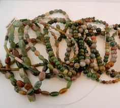 9 Strands of Fancy Jasper Genuine Gemstone by celtictreasures