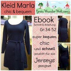 Ebook | Kleid Marla | Schnitt und Anleitung von GretaWunderWelt auf DaWanda.com