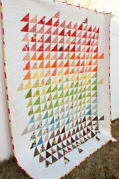 Spectrum half-square triangle Quilt