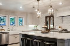 INSTEAD OF UP AND OUT BAR AND HIGH BAR STOOLS....Fixer Upper Full Episodes at HGTV.com | HGTV's Fixer Upper With ...