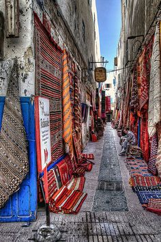 Morocco.  'Medina of Essaouira'.  Photograph by Fil.ippo, via Flickr.  Photo taken March 4 2010.