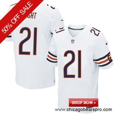 $129.99 Men's Nike Chicago Bears #21 Major Wright Elite Away White Jersey