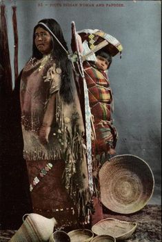 Paiute mother and child - circa 1910