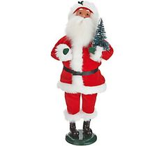 Byers Choice Red Velvet Decorating for Christmas Santa or Mrs.Claus