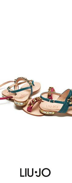 Embellished sandals. #liujo #shoes #SS2014