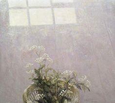"Jan Van der Kooi, ""Floor still life with cowparsley"", oil on panel."