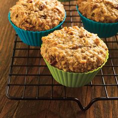 Muffins au son dans un pot Almond Flour Muffins, Bran Muffins, Baking Muffins, Breakfast Muffins, Morning Glory Muffins, Muffins Sains, Pots, Muffin Mix, Pastry Shop