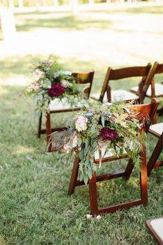 wedding ceremony marsala floral decor - brides of adelaide