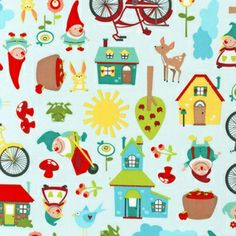 Illustration Ink - Gnome Living - Gnome Living in Garden
