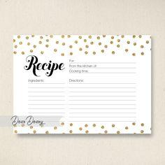 Glitter Confetti Recipe Card